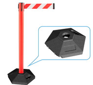 Retractable Belt Bollard with Rubber Base