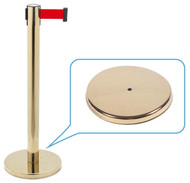 Retractable Belt Queue Bollard Brass (Including Matching Color Base)