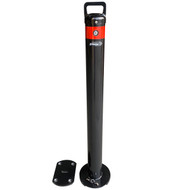 Removable 90MM Surface Mount Slider Type Bollard - Unique Lock Black