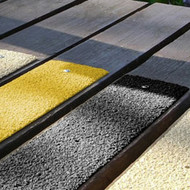 Anti Slip Fibreglass flat decking strips 54MM per metre - Black