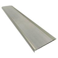 Aluminium w/ Grey Rubber Insert 75mmx10mm Stair Nosing - Per Metre