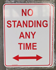 No Standing Anytime w/ 2 Way Arrow (300MMx225MM) - Metal