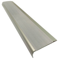 Aluminium w/ Grey Rubber Insert 75MMx30MM Stair Nosing - Per Metre