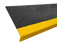 Fibreglass 230MMx30MM Stair Nosing - Per Metre Black/Yellow