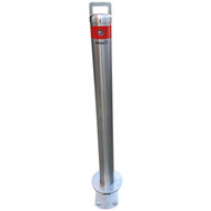 Removable 90MM Surface Mount Stainless Steel Slider Type Bollard - Keyed Alike