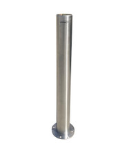 Surface Mount 114mm x 1000mm Stainless Steel Bollard