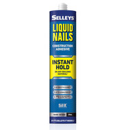 Sellys Liquid Nails Instant Hold Adhesive 290ml Cartridge