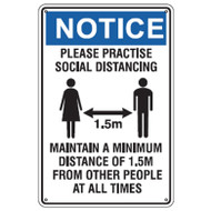 Social Distancing sign - Corflute 450mm x 600mm