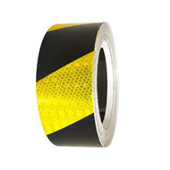 Reflective Tape Class 1 - Yellow and Black - 45M Roll