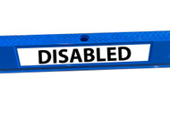 DISABLED - Vinyl Sticker for Wheel Stop