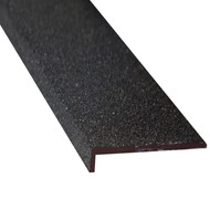Fibreglass 70MMx10MM Stair Nosing Black - Per Metre