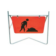 Swing Stand Frame with Worker Ahead Sign (900mm x600mm)