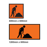 Worker Ahead Sign - 2 Sizes - Corflute