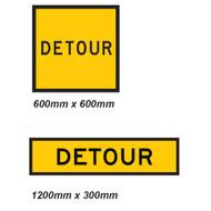 Detour Sign - 2 Sizes - Corflute