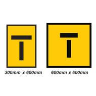 Lane Closed Sign (Symbol) - 2 Sizes - Corflute