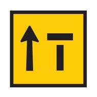 Lane Status Sign - 2 Lanes - Right Lane Closed (600mmx600mm) - Corflute