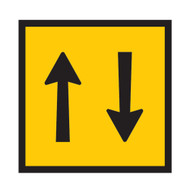 Two Way Traffic Sign - (600mmx600mm) - Corflute