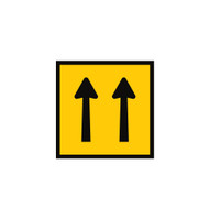 Two Lanes Ahead Open Sign - (600mmx600mm) - Corflute