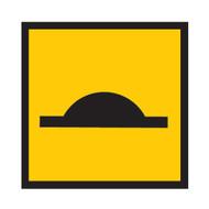 Speed Hump Sign - Symbol (600mmx600mm) - Corflute