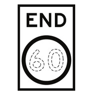 End Speed Restriction Sign - To Fill (600mmx900mm) - Corflute
