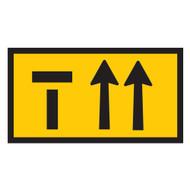Lane Status - 3 Lanes - Left Lane Closed - (1200mmx600mm) - Corflute
