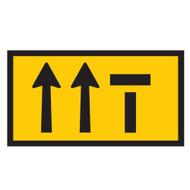 Lane Status - 3 Lanes - Right Lane Closed - (1200mmx600mm) - Corflute