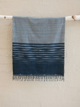 Hand woven Charcoal Stripe Night Sky Scarf