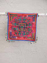 Gypsy Red  Embroidered Cushion