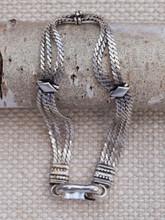 Silver 4 Strand Flat Chain Bracelet
