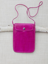 Fuschia Leather Travel Pouch