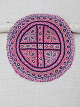 Pink Cross Round Patch