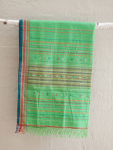 Woven by Hand, Green Cotton Sari