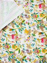 White Floral Bedspread