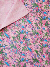 Pink Floral Bedspread