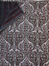 Charcoal Paisley Bedspread