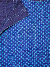 Royal Blue Boteh Bedspread