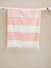 Hand woven Orange Stripe Sunrise Scarf