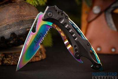 Tactical Folding Knife, Comes with Bottle Opener & Glass Breaker
