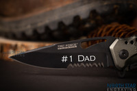 Unique gifts for Men, Personalized Tactical Folding Knife - Glass Breaker & Bottle Opener