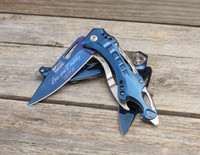 Personalized Knife, Groomsmen gift, Tactical Knife with Bottle Opener and Glass Breaker
