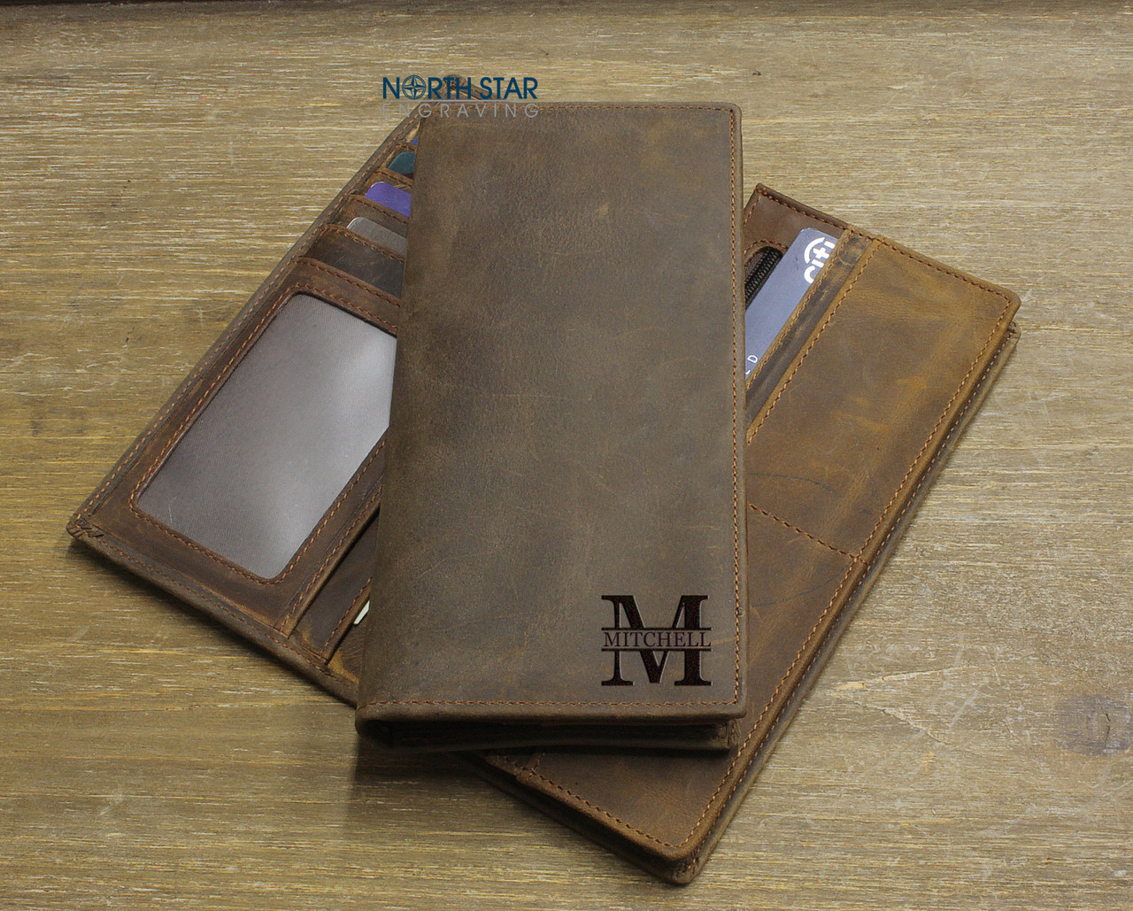 c0febba54d7b Mens Long Slim Leather Wallet - Personalized Mens Wallet