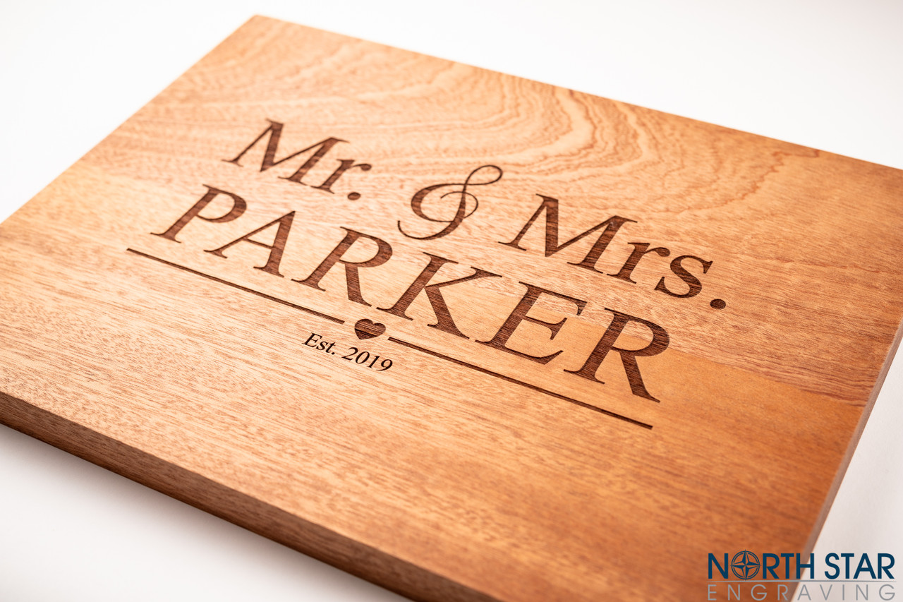 Wedding Couple Personalized Butcher Block Cutting Board