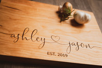 Personalized Cutting Board - Wedding gifts for Couple - Cherry Wood