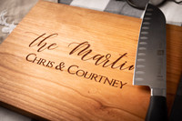 Custom Wood Cutting Board Personalized
