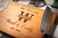 Cutting Boards Personalized - 40th Anniversary gift