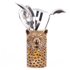 Leopard Utensil Pot