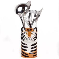 Tiger Utensil Pot