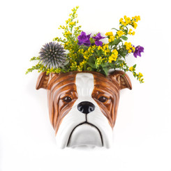 English Bulldog Wall Vase Large