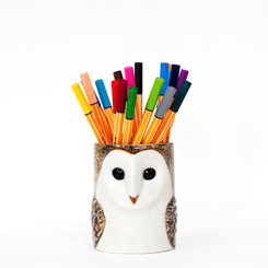 Barn Owl Pencil Pot
