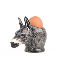 Donkey Face Egg Cup Grey